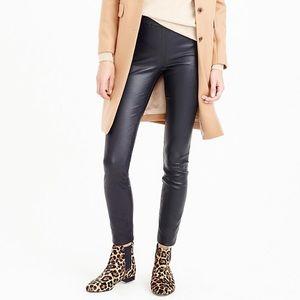 NWT Navy Genuine Leather Leggings!  Size 0.